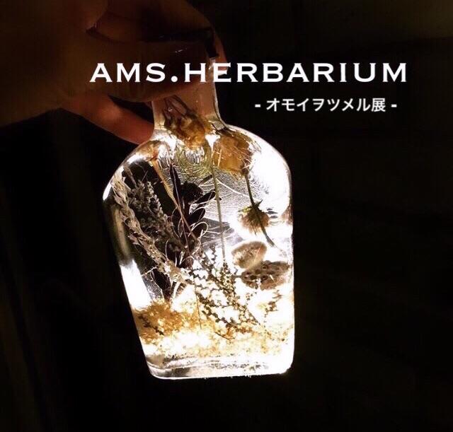 2019.10.7(MON)~10.31(THU)/ ams. herbarium - オモイヲツメル展 -